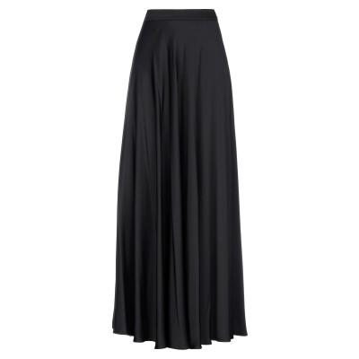 BIANCOGHIACCIO ロングスカート ブラック 42 ポリエステル 98% / ポリウレタン 2% ロングスカート