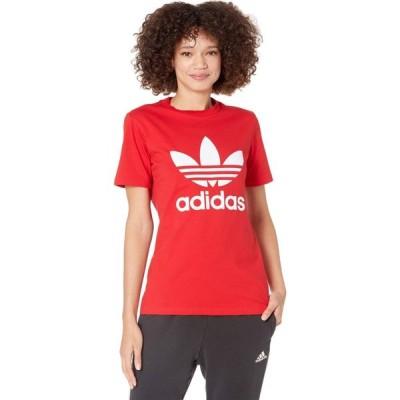 アディダス adidas Originals レディース Tシャツ トップス Trefoil Tee Scarlet