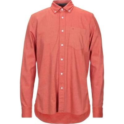カルバンクライン CALVIN KLEIN メンズ シャツ トップス patterned shirt Orange