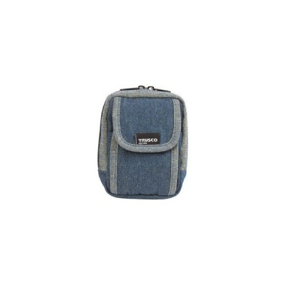TRUSCO/トラスコ中山  デニム携帯電話用ケース 2ポケット ブルー TDC-H101