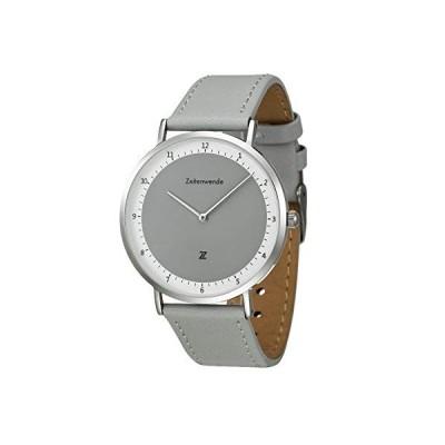 Zeitenwende Men's Analog Quartz Watch   Adjustable Gray 2-Layer Italian Leather Band   Super Lightweight Swiss Ronda 762 Movement Wrist Watch   Mini