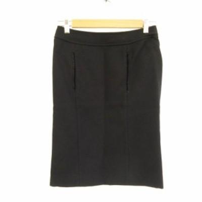 【中古】ボディドレッシングデラックス BODY DRESSING Deluxe スカート 膝丈 タイト 黒 7 *E72 レディース