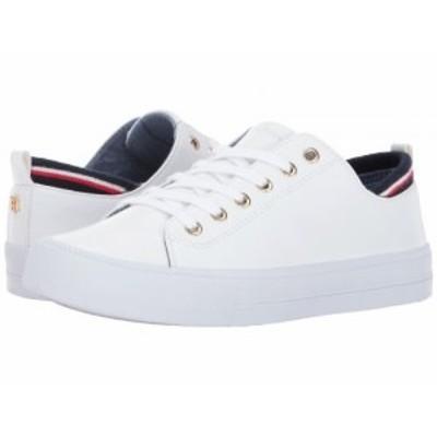 Tommy Hilfiger トミー ヒルフィガー レディース 女性用 シューズ 靴 スニーカー 運動靴 Two White PU【送料無料】