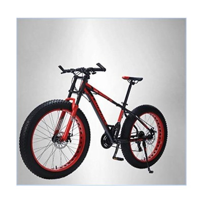 ZHANGYY Mountain Bike Aluminum Frame 24 Speed Mechanical Brakes 26 Wheels Long Fork Widened Large Tires 4.0 Speed Mountain Bike並行輸入品