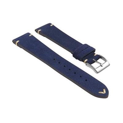 StrapsCo 手縫いスエードレザー クイックリリース 時計バンド ストラップ - お好きな色/長さをお選びください - 18mm 19mm 20m