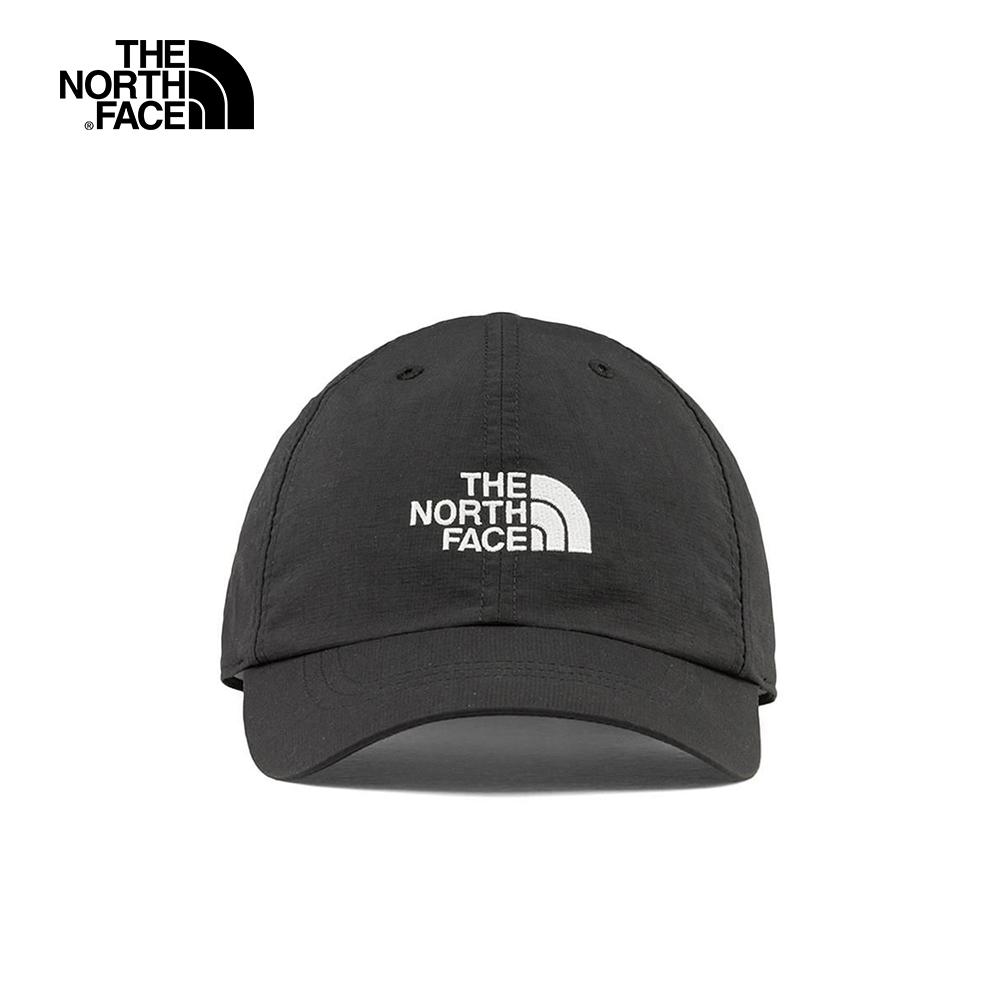 The North Face北面男女款黑白色LOGO防曬透氣運動帽(顏色隨機) CF7WJK3