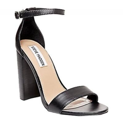 スティーブ マデン Steve Madden レディース サンダル・ミュール アンクルストラップ シューズ・靴 Carrson Ankle Strap Sandal Black Leather