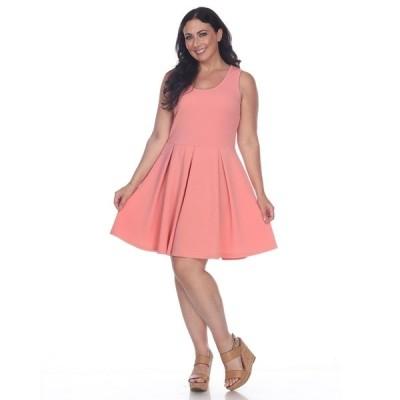 ホワイトマーク ワンピース トップス レディース Women's Plus Size Crystal Dress Orange