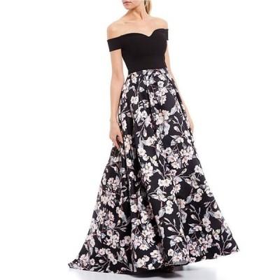 ビーダーリン レディース ワンピース トップス Off-The-Shoulder Top with Foiled Floral Skirt Two-Piece Ballgown
