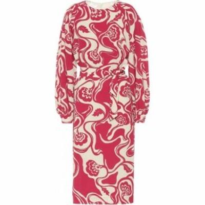 ドリス ヴァン ノッテン Dries Van Noten レディース ワンピース ミドル丈 ワンピース・ドレス Floral Midi Dress Fuchsia