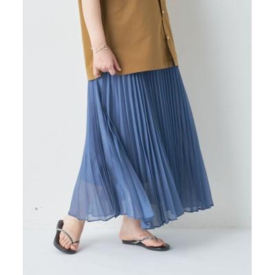 《動画付き》ソフトオーガンザプリーツスカート
