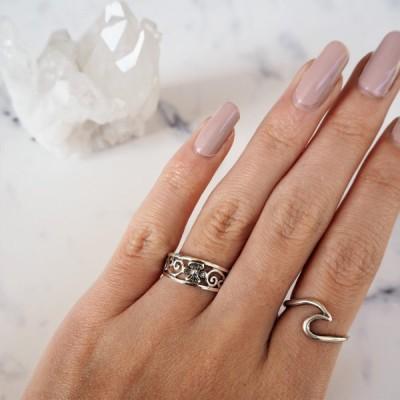 ハイビスカス リング 指輪 シルバー925