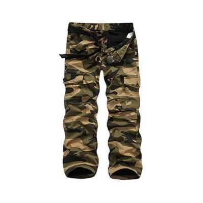 [オールデーシャイニング] ロング 裏起毛 暖パン 暖かい 迷彩 ミリタリー カジュアル パンツ ズボン ストレート メンズ MB04G34