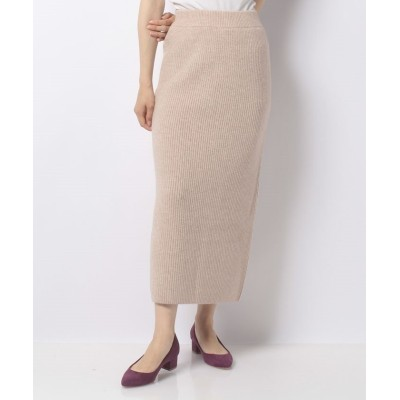 (NICE CLAUP OUTLET/ナイスクラップ アウトレット)【natural couture】ふわふわニットスカート/レディース ライトベージュ