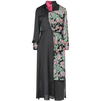 ジュンヤ ワタナベ JUNYA WATANABE ロングワンピース&ドレス ブラック M ポリエステル 100% / レーヨン ロングワンピース&ド