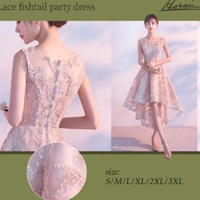 韓国 パーティードレス 袖なし アシンメトリー ワンピース ワンピドレス 結婚式 二次会 秋冬 お呼ばれ 20代 30代 40代