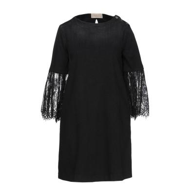 KAOS JEANS ミニワンピース&ドレス ブラック M 97% コットン 3% ポリウレタン ミニワンピース&ドレス
