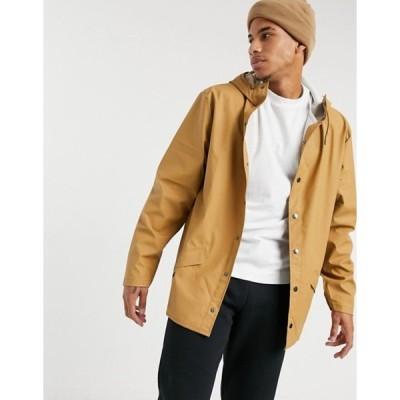 レインズ メンズ ジャケット・ブルゾン アウター Rains hooded jacket in mustard