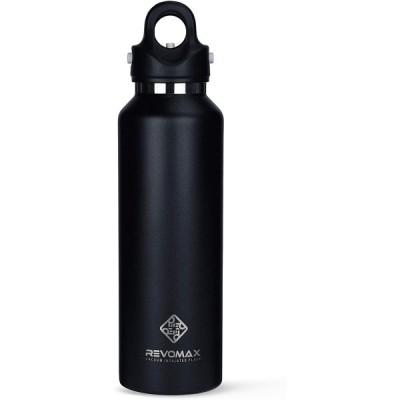 真空断熱ボトル サーモボトル  592ml オニキスブラック RevoMax2 二重密閉構造 保温 保冷 水筒