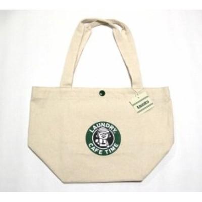 LAUNDRY ○○カフェ風ロゴ エコバッグ