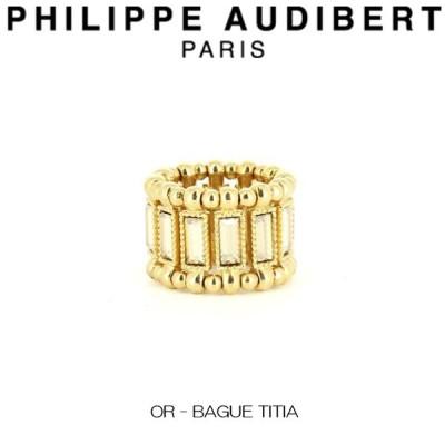 フィリップ オーディベール Philippe Audibert OR - BAGUE TITIA スワロフスキー ゴールド リング ティティア ゴールドメタル リング 指輪 レディース [アクセサ