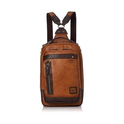 Sale[リー] ボディバッグ・ワンショルダー 3WAY リュック 手持ちハンドル付き アンティークレザー調合皮(タブレット収納可) キャメル