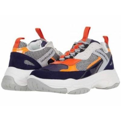 Calvin Klein カルバンクライン レディース 女性用 シューズ 靴 スニーカー 運動靴 Maya Navy/Grey/Orange【送料無料】