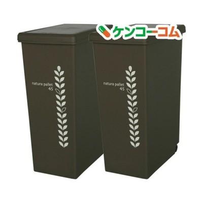 ゴミ箱 スライドペール チョコレートブラウン 45L ( 2コ組 )
