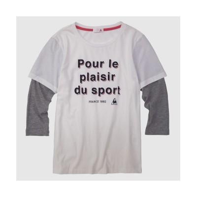 【ルコックスポルティフ】 7分袖レイヤードシャツ レディース ホワイト系 S le coq sportif
