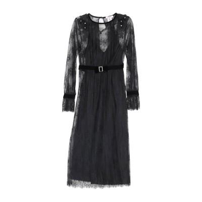 ブルーガール ブルマリン BLUGIRL BLUMARINE 7分丈ワンピース・ドレス ブラック 42 ナイロン 100% 7分丈ワンピース・ドレス
