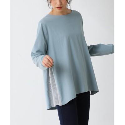 (Honeys/ハニーズ)脇異素材使いTシャツ/レディース サックス
