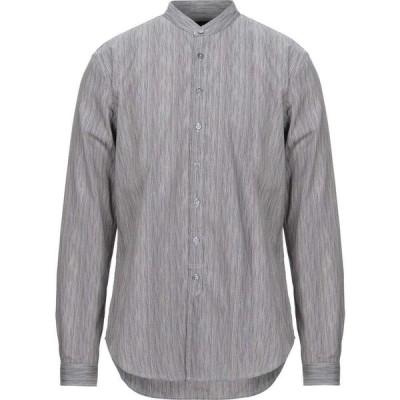 ジョン バルベイトス JOHN VARVATOS メンズ シャツ トップス striped shirt Grey