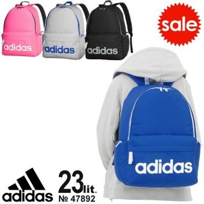 【セール】アディダス adidas リュックサック 23リットル デカロゴ かわいい 通学 スクールバッグ スクバ 通学リュック 47892