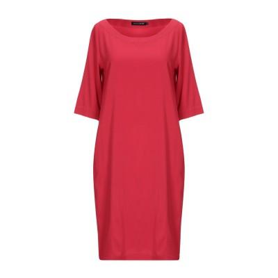 EUROPEAN CULTURE ミニワンピース&ドレス レッド XS レーヨン 92% / ポリウレタン 8% ミニワンピース&ドレス