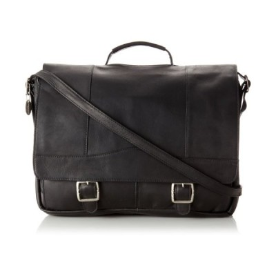 David King & Co. Porthole Brief with Inside Organizer, Black, One Size 並行輸入品