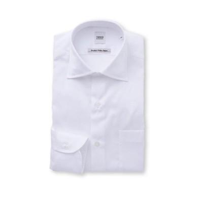 【タケオキクチ】 桧垣紋柄 ビジネスシャツ メンズ ホワイト 03(L) TAKEO KIKUCHI