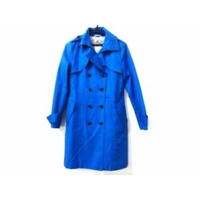 ビアッジョブルー Viaggio Blu トレンチコート サイズ2 M レディース ブルー 冬物【還元祭対象】【中古】20191122