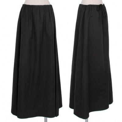 ジャンポールゴルチエ ファムJean Paul GAULTIER FEMME ポリAラインロングスカート 墨黒40 【レディース】