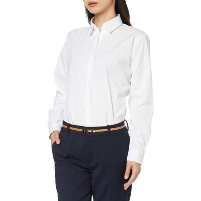 [オリヒカ] 【就活応援】形態安定/機能的白ブラウス 選べる襟型デザイン シャツカラー/スキッパーカラー レディース 白(スキッパーカラー) ALS2