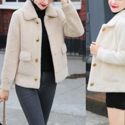 ショートジャケット コート レディース 裏地キルティング加工暖か オシャレ かわいい アウター u101