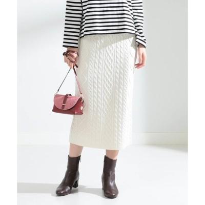 スカート Ray BEAMS / ケーブル ロング タイト スカート