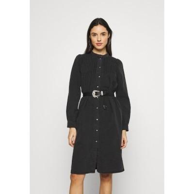 オンリー ワンピース レディース トップス ONLRAINA DRESS YORK - Denim dress - black denim