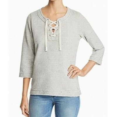 Tommy Bahama トミーバハマ ファッション トップス Tommy Bahama Womens Sweater Gray Size Small S Scoop Neck Shimmer