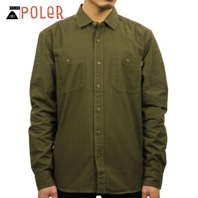 ポーラー シャツ メンズ 正規販売店 POLER 長袖シャツ ワークシャツ HAWTHORN L/S RIPSTOP WOVEN 21310003-OLV OLIVE