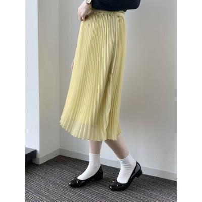 花言葉のあるすきな丈プリーツスカート(ミディ)