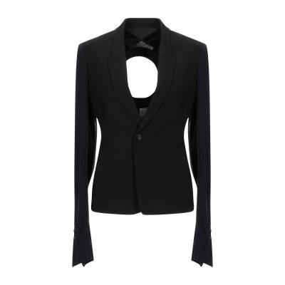 リック オウエンス RICK OWENS テーラードジャケット ブラック 42 バージンウール 53% / レーヨン 47% / コットン / シル