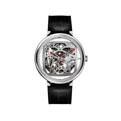 CIGA Design Fang Yuan Automatic Mechanical Skeleton Wristwatch - Silver 並行輸入品