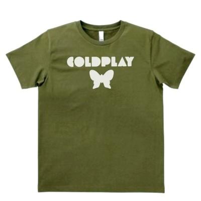 音楽・バンド・ロック・シネマ  Tシャツ COLDPLAY カーキー MLサイズ
