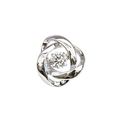ブローチ ダンシングストーン タイニーピン 一粒 ダイヤモンド 0.20ctブローチ k18 ホワイトゴールド トゥインクルセッティング プレゼント ギフト 人気