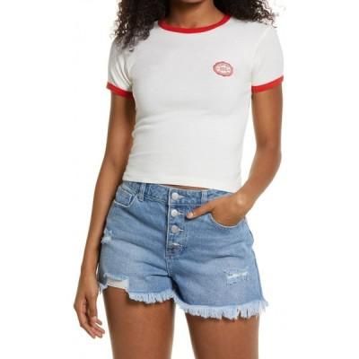 アーバンアウトフィッターズ BDG URBAN OUTFITTERS レディース Tシャツ トップス Ringer Baby T-Shirt White
